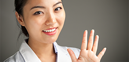 Image of researcher waving hello